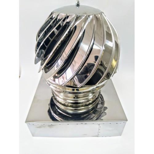 Въртяща коминна шапка - квадрат